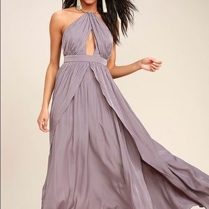 'On My Own' Dusty Purple Maxi